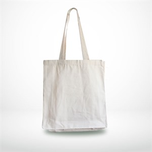 Natural Canvas Shopping Bags with Long Handles