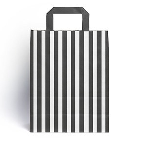 Candy Striped Black  Paper Carrier Bags [HappyPack.me Brand]
