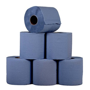 Blue Centre Feed Rolls (Pack of 6 Rolls)