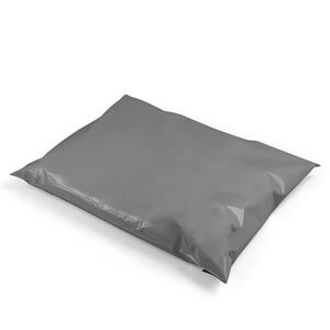 Grey Recycled Mailing Bags - Small Sizes