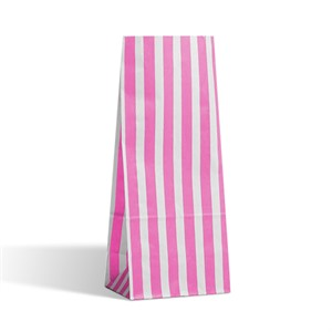 Candy Stripe Pink Pick n Mix Paper Bags