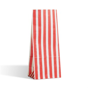 Candy Stripe Red Pick n Mix Paper Bags