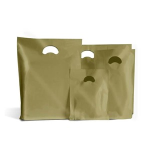 Degradable Gold Plastic Carrier Bags