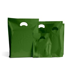 Premium Degradable Harrods Green Plastic Carrier Bags