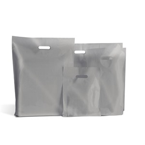 Standard Grade Classic Silver Plastic Carrier Bags