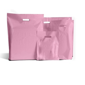 Standard Grade Classic Pink Plastic Carrier Bags