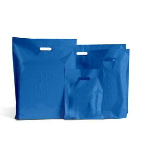 Standard Grade Classic Royal Blue Plastic Carrier Bags