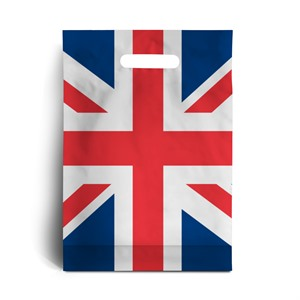 Standard Plastic Carrier Bags with Union Jack Design