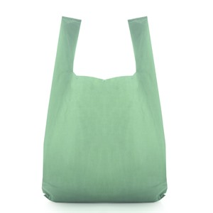Vest Style Recycled Green Plastic Carrier Bags