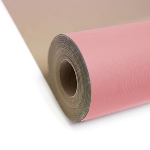 Baby Pink Kraft Paper Gift Wrap Roll