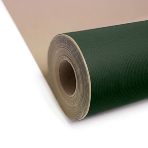 Dark Green Kraft Paper Gift Wrap Roll