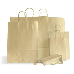 Premium Italian Ivory Paper Carrier Bags with Twisted Handles