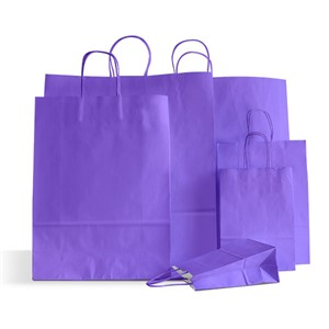 Premium Italian Lilac Paper Carrier Bags with Twisted Handles