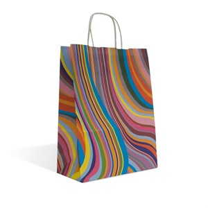 Seventies Retro Design Paper Carrier Bags with Twisted Handles
