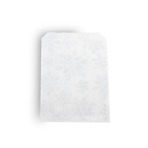 Christmas White Snowflake Paper  Counter Bags